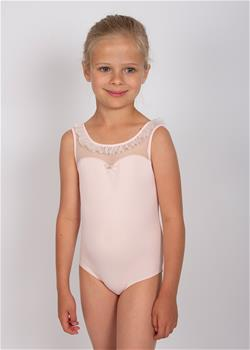 BELKA, Tank Leotard with edge rouging detail