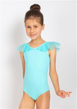 BELLE, Tank-style Leotard with shoulder overlay
