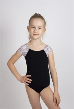 BRADIE, Cap Sleeve Leotard with rosette print